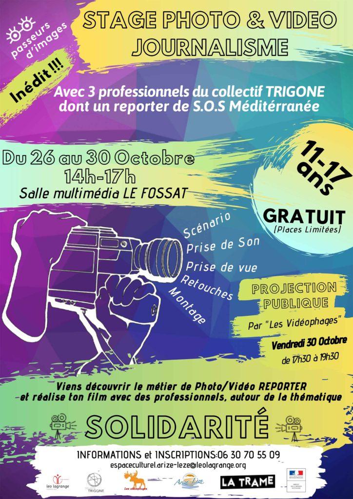 Satge photo & vidéo journalisme du 26 au 30 octobre - Salle multimédia Le Fossat